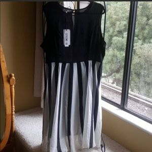 Lovely Black and White Dress by Miss Look